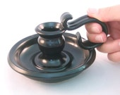 Candle holder - Perfect Old fashioned Charm in Glossy Black