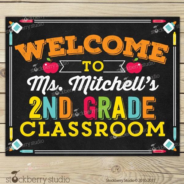 Classroom Welcome Decor : Classroom welcome sign decor