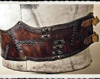 Large leather belt corset - Wild -