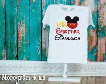 Mickey Mouse Big Brother Sibling Shirt, Big Bro