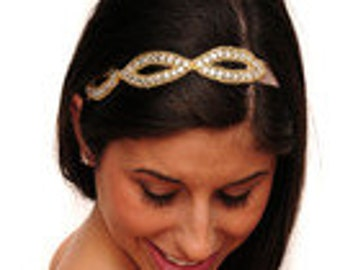 Eye Jeweled Elastic Headband