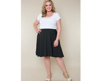 A-line Skirt Cotton Jersey 4 Lengths Sizes 2-28