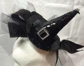 Black Hat Witch Fascinator