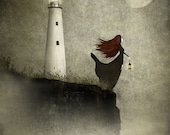 The Lighthouse widow - Art print (3 different sizes)