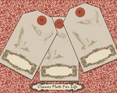 Gift tags Cranes mate for life. Blank Tags Printable add your own text Digital 506 Old Fashioned Collage scrapbooking discount coupon codes