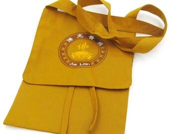 Buddhist Tibetan Monk Buddha Bag Fabric Embroidered With Symbol FO Lotus 280mm x 200mm  T2808