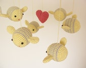 Bee Baby Mobile, Soft Yellow Mobile, Bumble Bee Mobile, Hanging Baby Mobile