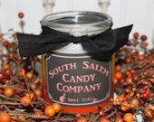 Candy Corn Layered Primitive Halloween Jar Candle- 3 Scents- Caramel Kettle Corn-Toffee Apple- Cider Donut- Highly Scented FFFOFG