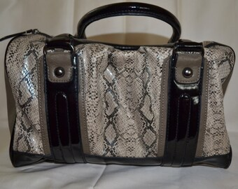 Reptile Faux Doctor Bag Vintage Hippie Boho Paris Chic Speedy Handbag