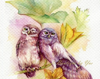 PRINT – Season of Love Watercolor painting 7.5 x 11""