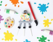 Art Theme Cake toppers kit