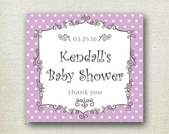 Personalized Baby Shower Labels // Breanne Design // Personalized Label // Favor Box Label // Wedding Favor Label
