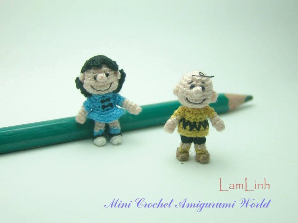 Miniature Amigurumi Doll : Inch doll couple miniature crochet amigurumi tiny