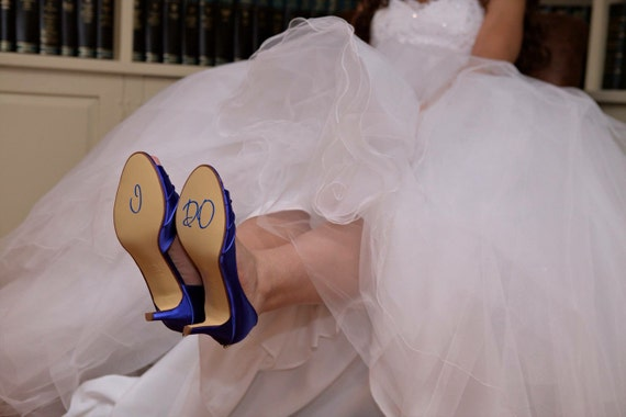 I DO Wedding Shoe Stickers - Decals - You choose color