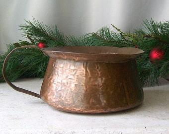 Antique Chamber Pot Copper Chamber Pot Circa 1900 Victorian Chamber Pot Boudoir Vanity Decor