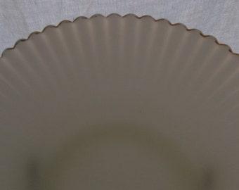 Vintage Glass Serving Plate, Milk Glass Plate, Mac Beth Evans Monax Petalware