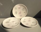 "Vintage Franciscan Echo dessert Plate Set 6 1/2"" Gladding McBean & Co. Made in California mid century"