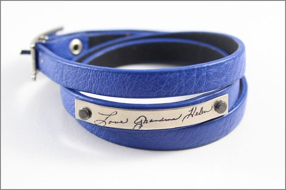 Personal Handwriting Bracelet with Actual Handwriting | Custom Signature Etched Jewelry