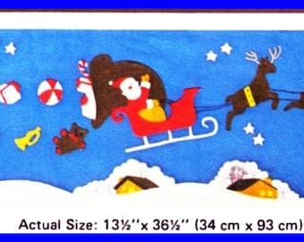 Vintage Kwik Sew 828 Sewing Pattern - Christmas Quilt Wallhanging The NIGHT BEFORE CHRISTMAS Santa & Reindeer Sleigh Ride , Tree Skirt UNcut
