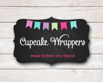 Cupcake Wrappers. Made to Match. Party Printable.