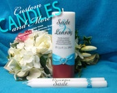 Unity Candle With Tapers Two Tone Color Design Personalized - Your choice of color