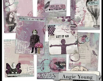 Journal It Papers Set #12 - Digital Art Supplies By Angie Young
