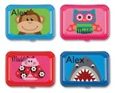 Stephen Joseph Lunch Snack Boxes - Back to School ~ PreSchool ~ Daycare - FREE Monogramming