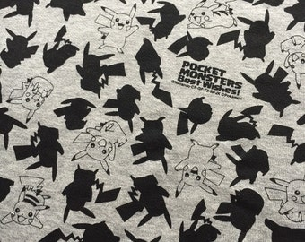 AUG SPECIAL more than Half Price sale One yard Japanese cotton Jersey fabric Poketmonster print Knit Pokemon fabric