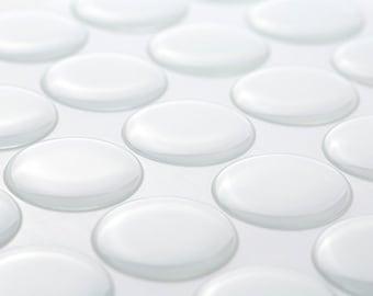 "100 Premium Epoxy Stickers 1"" Inch Circle for Bottle Cap Necklaces Bubble Seal Dot Drops H1"