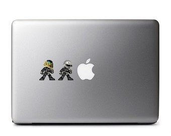 Daft Punk 8-bit Vinyl Decal
