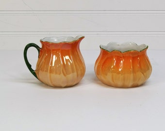 Vintage P.A.L.T. Czecho-Slovakia Lusterware Cream and Sugar Set