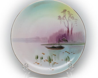 Nippon Hand Painted Rustic Riverscape Decorative Plate