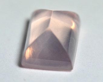 16mm 12.85t Rose Quartz oblong Sugar Loaf Cut gemstone 16 by 11 by 8mm