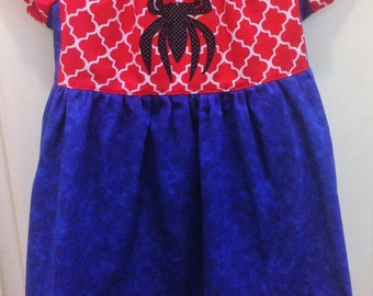 NEW Size 4/5 SPIDERGIRL Inspired Peasant Princess Dress, Girls Costume Dress, fun for Special Occasion, or Birthday Party