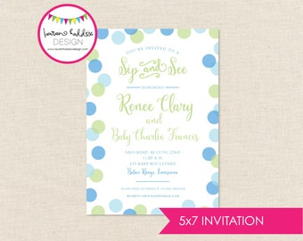 DIY, Baby Sip and See INVITATION ONLY