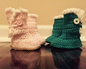 Baby Boots with soft trim  READY TO SHIP