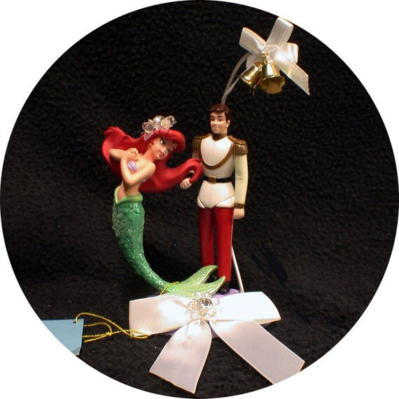 DISNEY Little Mermaid Princess Ariel Prince Eric Wedding Cake