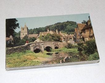 50 Vintage England Chrome Postcards Blank - Wedding Guestbook