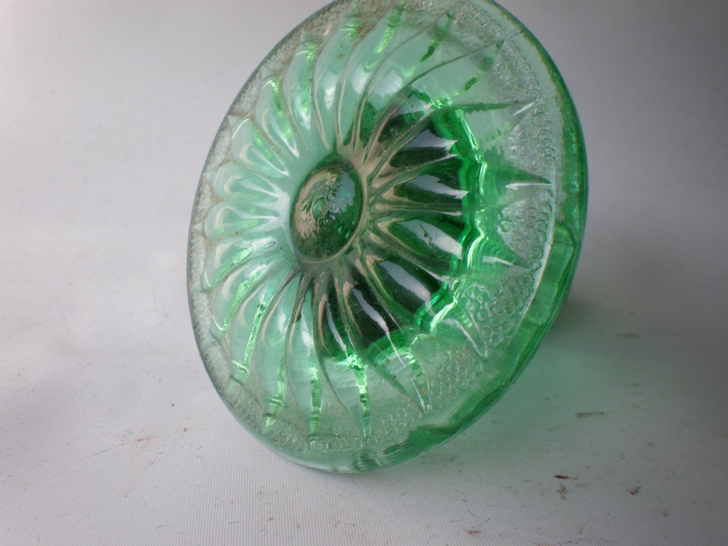 Vintage Handcrafted Green Glass Curtain Tie Back