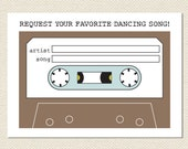 Wedding Song Request Mixtape Card // Instant Download