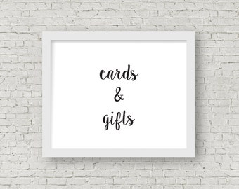 printable cards & gifts sign // instant download // 8x10 frame // rogue collection