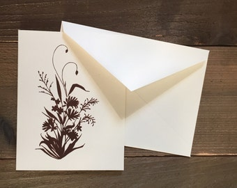 wildflower bouquet of alaskan flowers greeting card