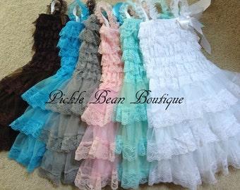 Flower Girl Dresses, Baby Dress, Lace Baby Dress, Rustic Flower Girl Dress, Lace Flower Girl Dress, Country Flower Girl, Baby Wedding Dress