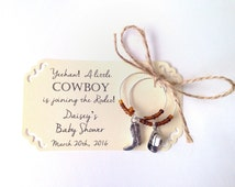 Cowboy theme baby shower. Cowboy and cowgirl wine charm favors. shower party favor: Cowgirl party decor. 2-charm set. 1 to 50 favor listing.