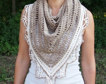 Crochet pattern woman shawl, triangle shawl,  lace shawl, women wrap, Sunkissed shawl, DIY photo tutorial, PDF Instant download