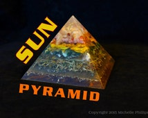 Four Sided Sun Pyramid - Orgone Energy Amplifying Pyramid - Gold Ray - Manifestation-Prosperity-Abundance-Good Luck-Good Fortune-Wishes
