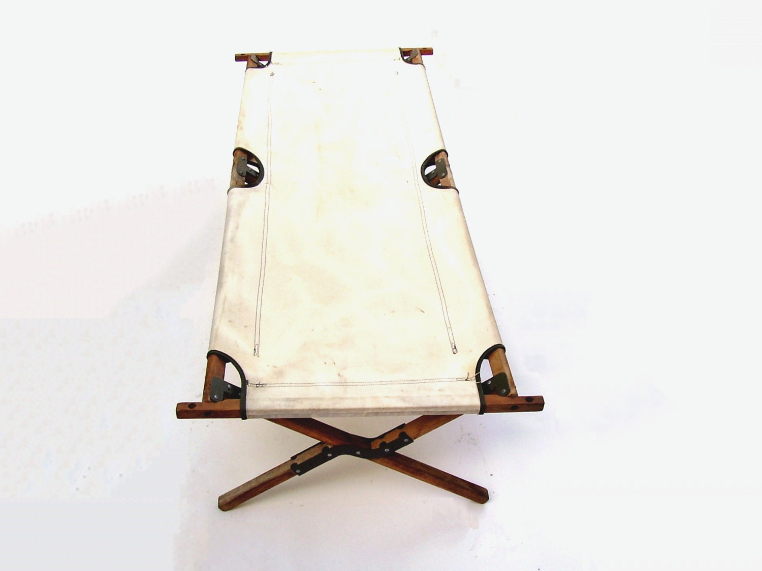 Reserved 4 S Vintage Army Cot 1960s Military Cots Beige Canvas