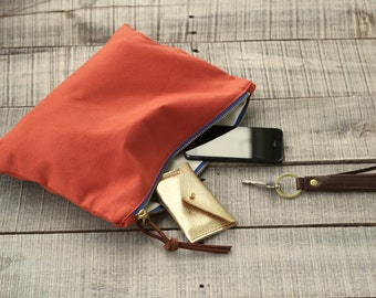 The Traveler's Clutch in AMERICANA  //  canvas pouch purse bag wallet