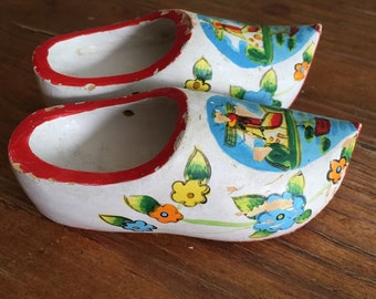 Wooden Shoes Dutch Shoes Holland Souvenir Windmill Hand Painted