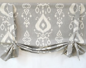 London Shade Valance / Tie Up Shade Valance / Butterfly Valance / To Be Ordered
